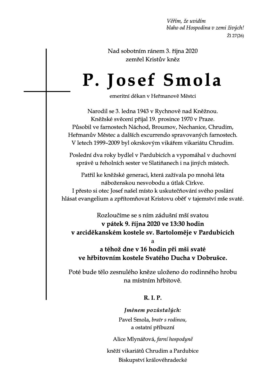 + P. Josef Smola