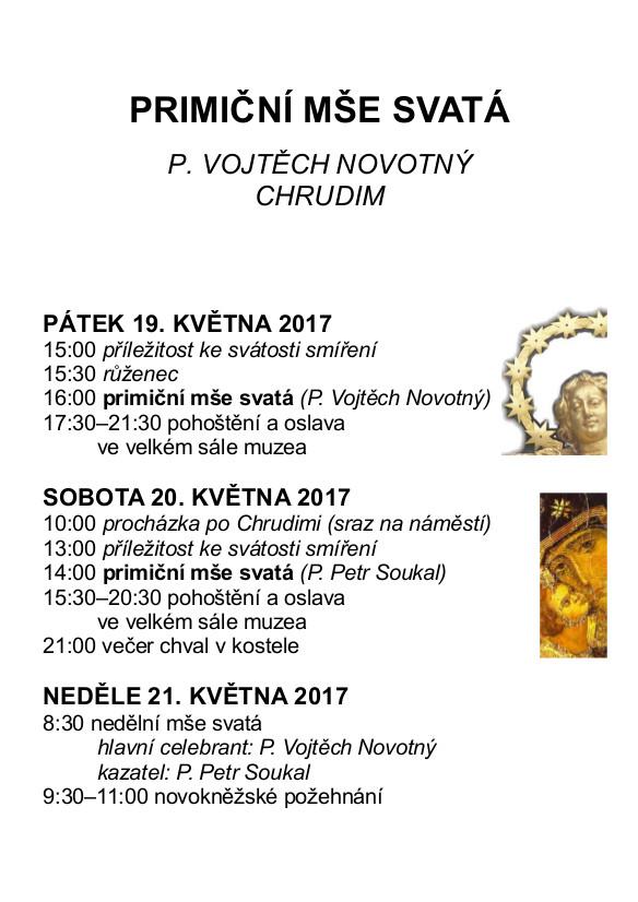 Brožura P. Vojtěcha Novotného k primici
